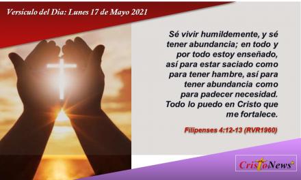 Versículo del Día: Lunes 17 de Mayo de 2021