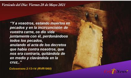 Versículo del Día: Viernes 28 de Mayo de 2021
