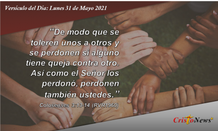 Versículo del Día: Lunes 31 de Mayo de 2021