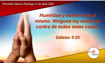 Humildad y Templanza dos virtudes que nos ayudan a tener el carácter de Jesucristo: Provisión Domingo 11 de Julio de 2021