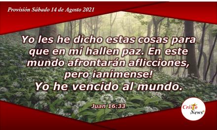 ¡Anímense! En Jesucristo somos vencedores: Provisión Sábado 14 de Agosto de 2021