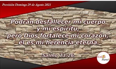 Jesucristo es mí fortaleza en cada paso del camino: Provisión Domingo 29 de Agosto de 2021