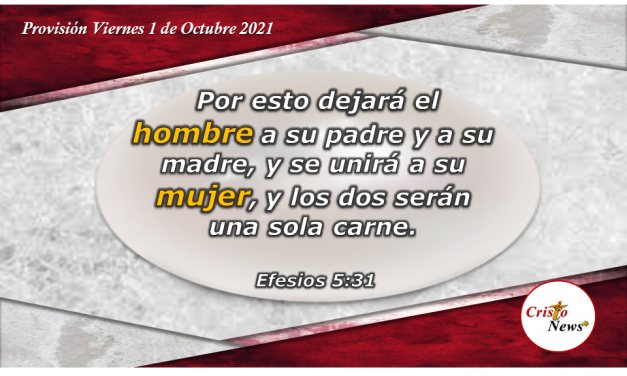 En una sola carne y en un solo espíritu con Jesucristo: Provisión Viernes 1 de Octubre de 2021