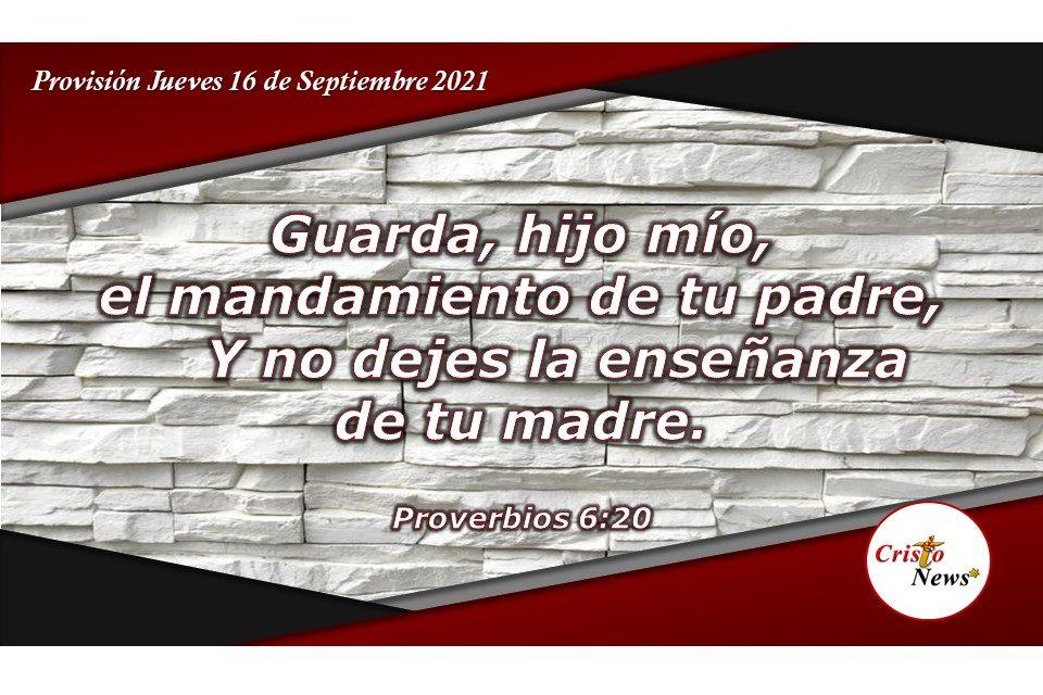 Guardar y amar la sabiduría de Dios a través de los mandamientos y enseñanzas: Provisión Jueves 16 de septiembre de 2021
