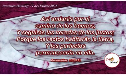 El camino de los justos lo guía la palabra de Dios: Provisión Domingo 17 de Octubre de 2021