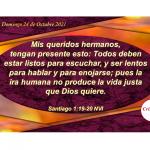 Escuchar produce sabiduría y entendimiento del propósito de Dios en nuestro corazón: Provisión Domingo 24 de Octubre de 2021