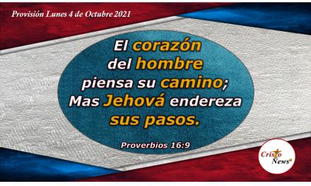 Caminar recto con integridad permitiendo que Jesucristo guíe nuestros pasos y corazón: Provisión Lunes 4 de Octubre de 2021